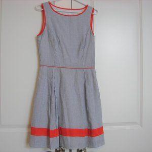 Jessica Simpson Blue Seersucker Striped Dress